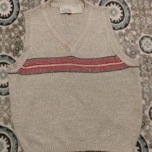 [Cattiva] Soft Gray Knit V-Neck Sweater Vest Tank